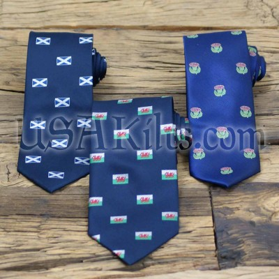 Scottish and Welsh Themed Neckties