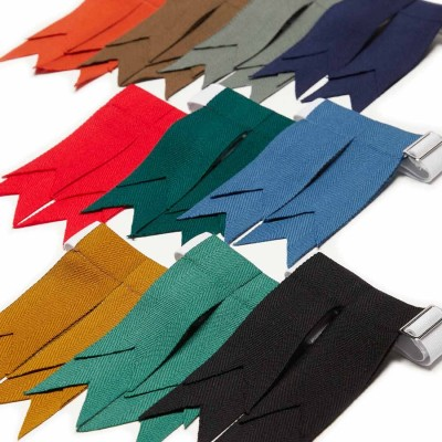 Premium Wool Garter Flashes - Solid Color