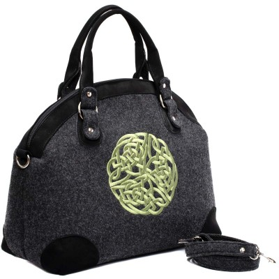Real Irish wool carry-on tote bag with gorgeous bright Celtic Knot