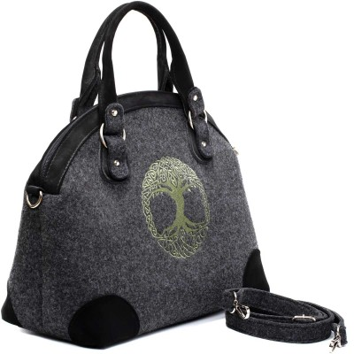 Ready for adventure -- hardened natural wool day bag features the Druidic Tree of Life