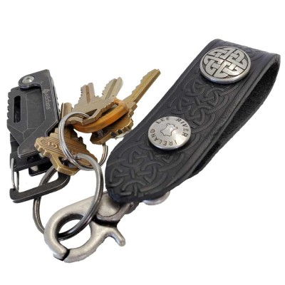 Embossed Leather Key Fob Securely holds your keys from your belt!
