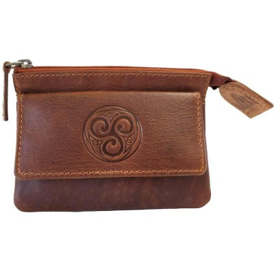 Aisling Coin and Key pouch in Tan Leather