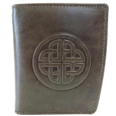 Ladies Caitlin Wallet in Green Leather