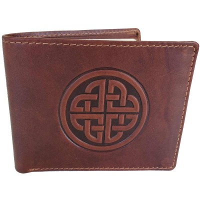 Conan Tan Leather Wallet with Celtic Knotwork