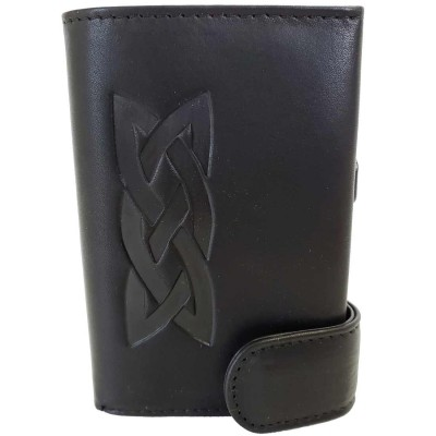 Black RFID Wallet with Celtic Knot