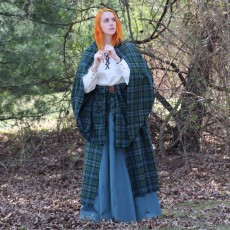 Our PV Earasaid (women's great kilt) is ideal for SCA, LARP, Historical reenacting and more!