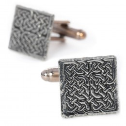 Celtic Knot Square Cuff Links