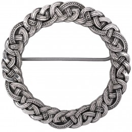 Celtic Knot Plaid Brooch - delicate detailing in the old manner