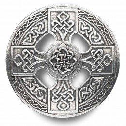 Celtic Cross Plaid Brooch