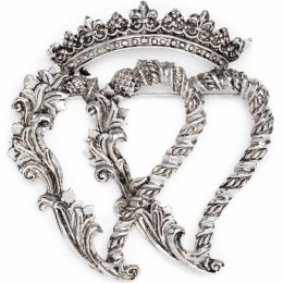 Stylistic Double Lukenbooth Brooch