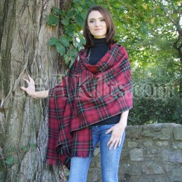 Firefighters Memorial Tartan Wool Shawl - attached at shoulder