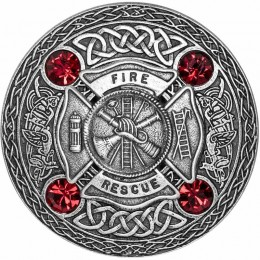 Firefighters Plaid Brooch
