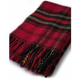 Firefighters Memorial tartan lambs wool scarf