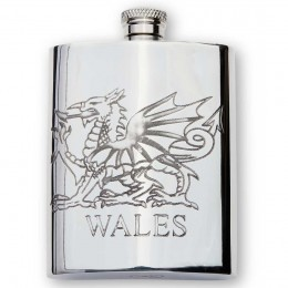Welsh dragon Flask