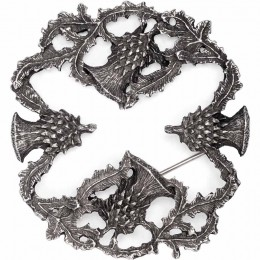 Hidden Cross Thistle Brooch