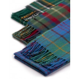 Irish County Tartan Lambs Wool Scarves - every county available!