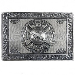 Firefighter Maltese Cross Kilt Belt Buckle