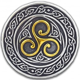 Irish Pewter & Brass Triskel Knotwork Buckle!