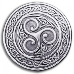 Irish Pewter Triskel Knotwork Buckle!