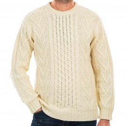 The Only Sweater You Need - Erin Cable-knit Fisherman's Sweater is great with your kilt or jeans.