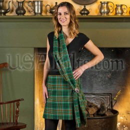 PV Tartan Sash worn Casually