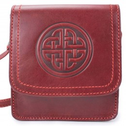 Embossed Celtic knot and rustic decorative stitching