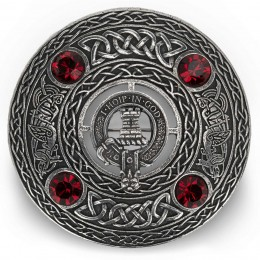Scottish Clan Crest Plaid Brooch