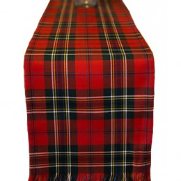 Clan Tartan Table Runner - Stain Resistant Machine-washable Poly Viscose cloth. Dozens of gorgeous, authentic family tartans available!